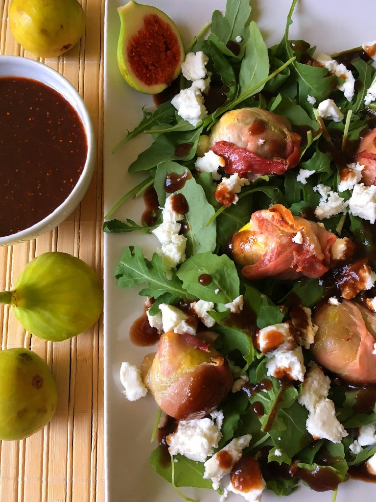 Fig salad with goat cheese