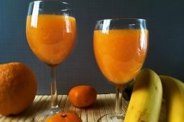 Fruit juice with carrot