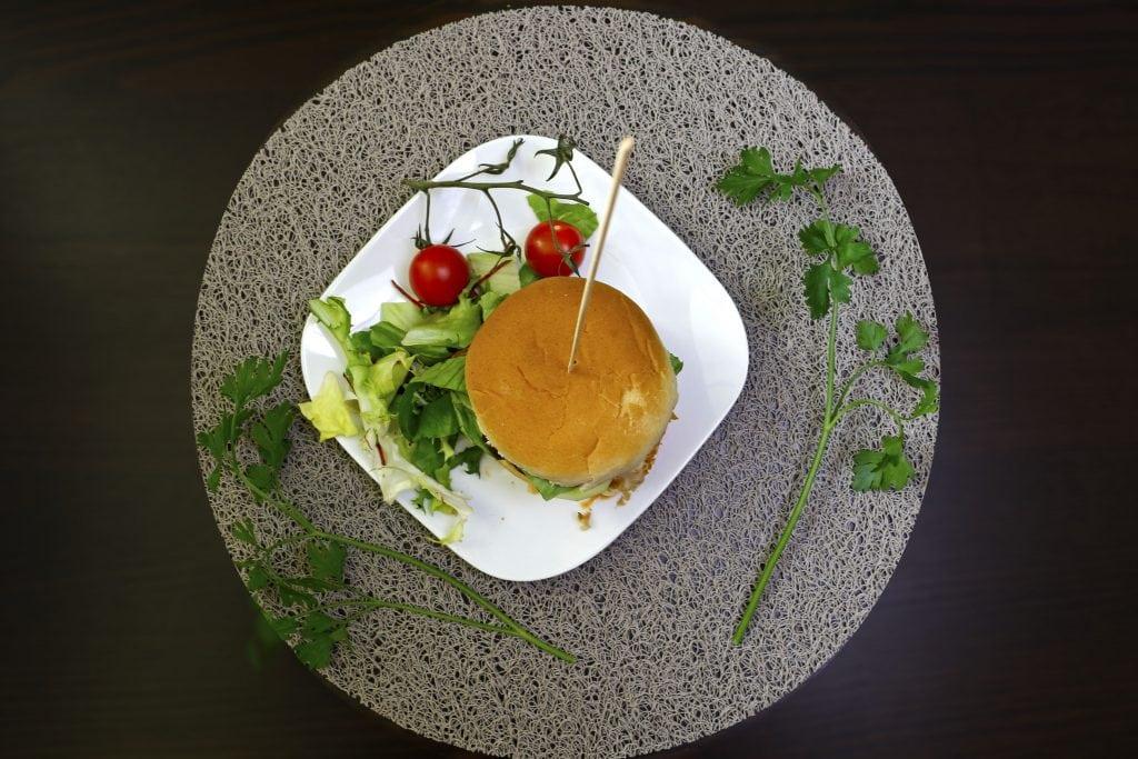 Vegetarian celeriac burgers