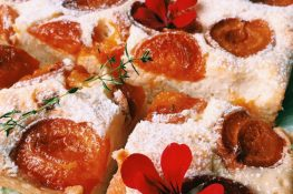 Apricot cake with quark cheese