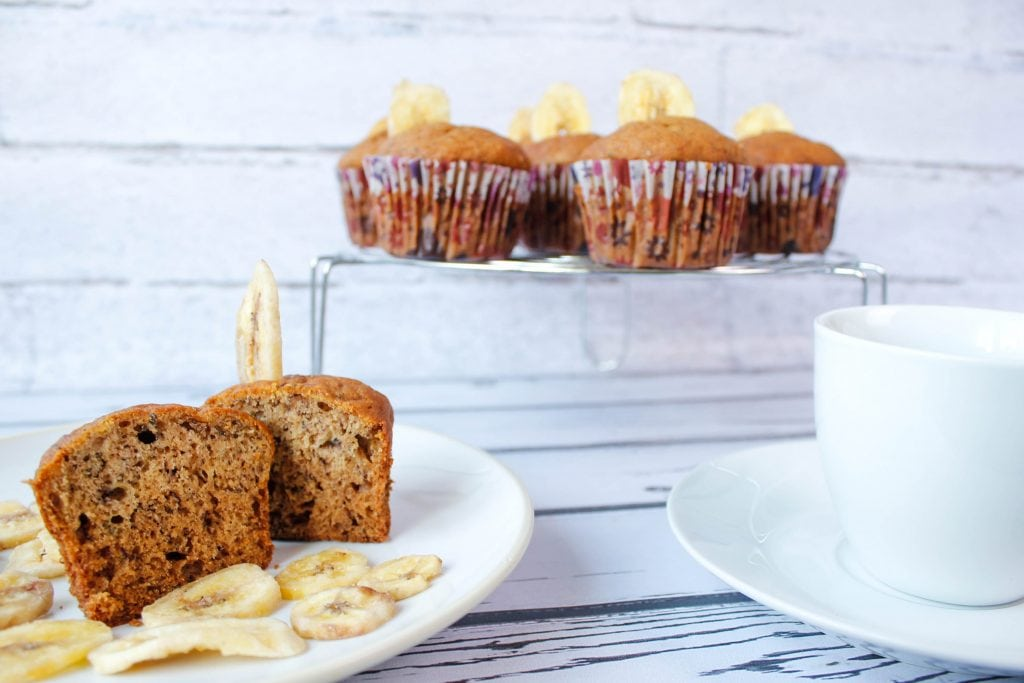 Banana muffins with healthy chia seeds