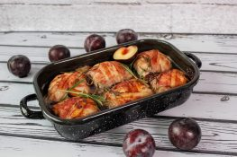 Pork roulades with minced meat