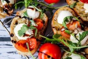 Tomato and mozzarella cold snack
