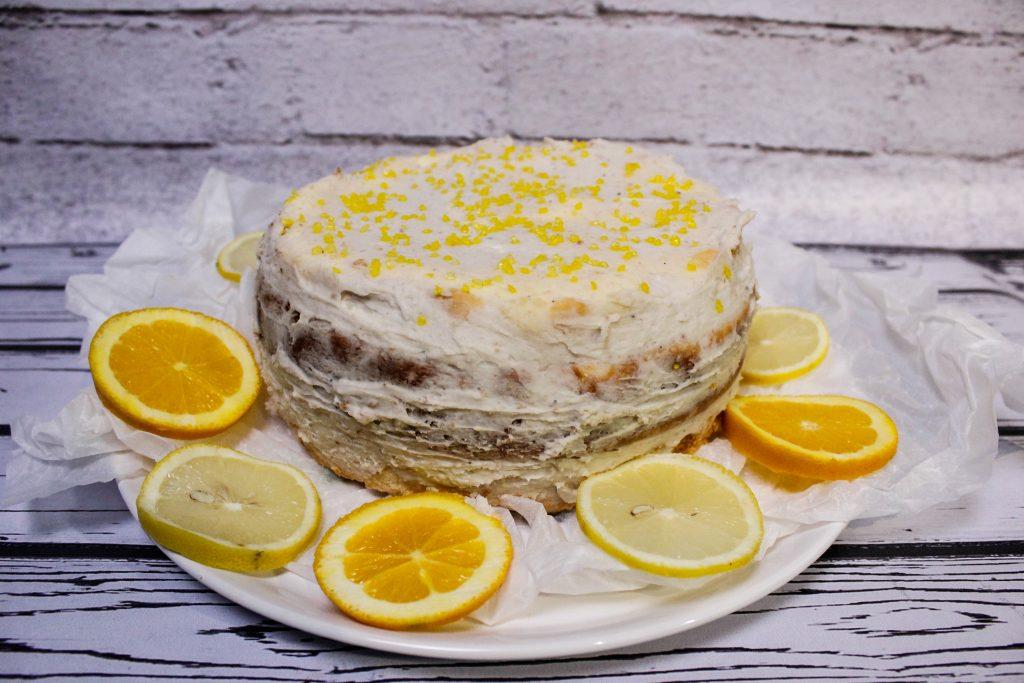 Cheesecake with chestnut cream