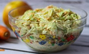 Coleslaw made from cabbage