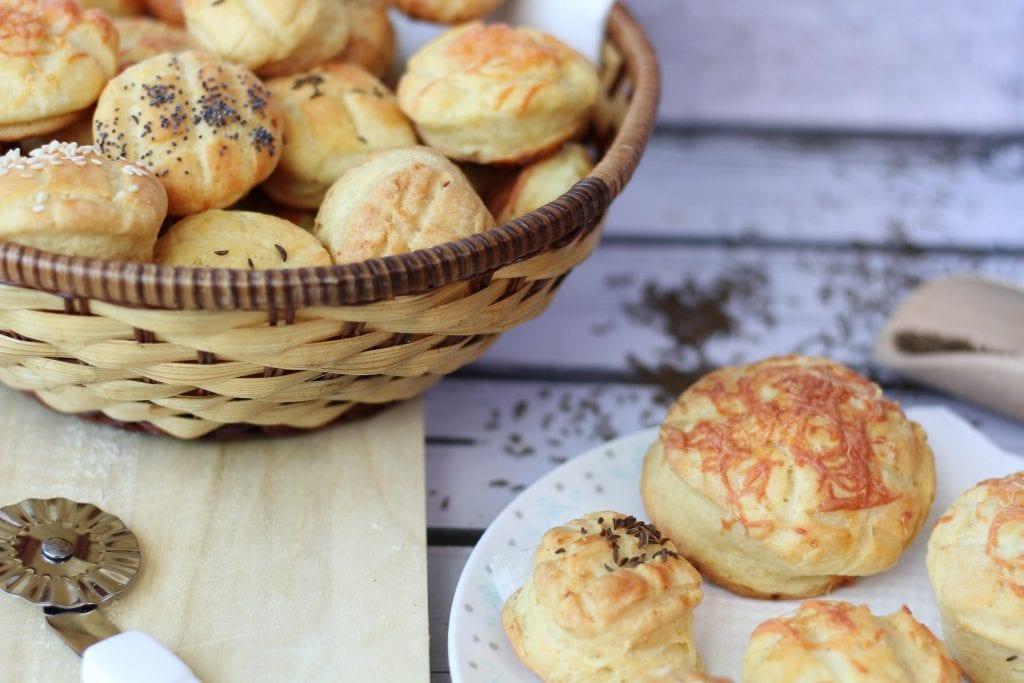 Hungarian potato pogacsa buns