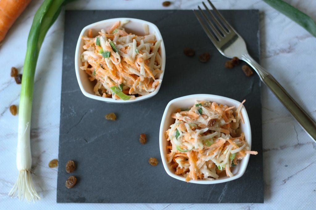 Carrot and kohlrabi salad