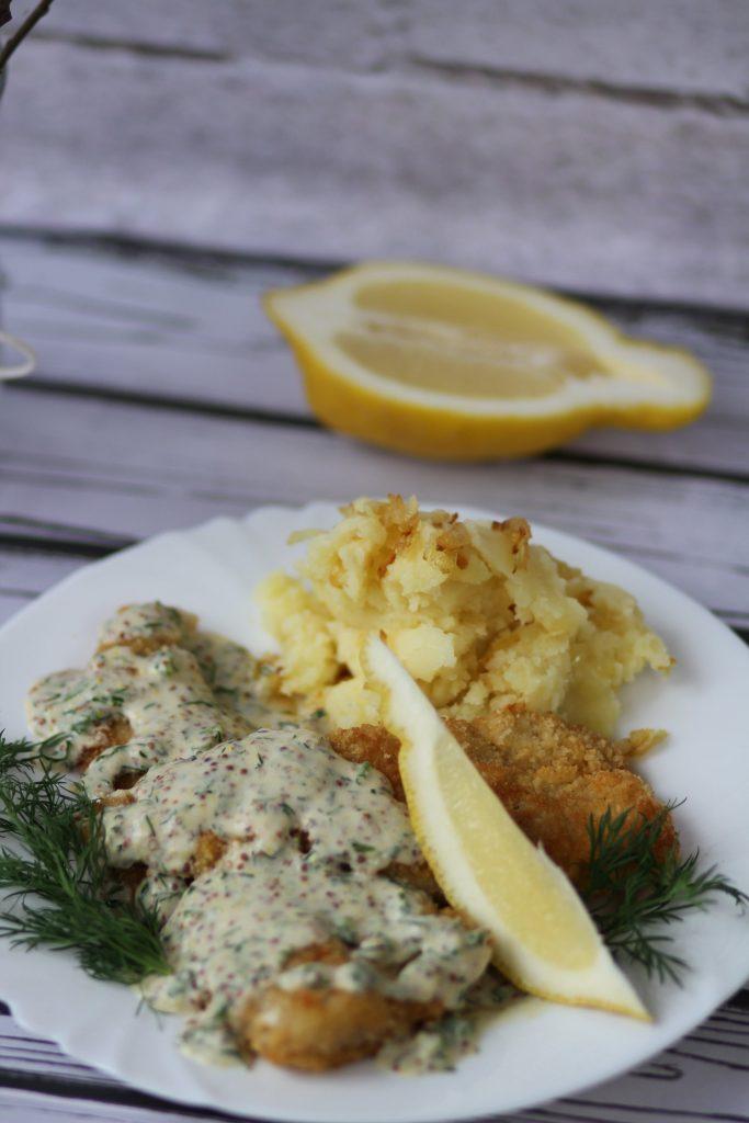 Fish in mustard sauce