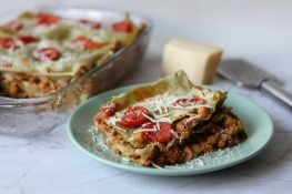 Lasagne with chickpeas