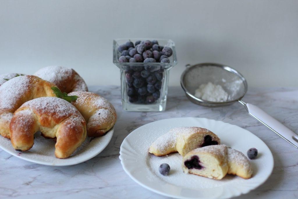 Blueberry croissants