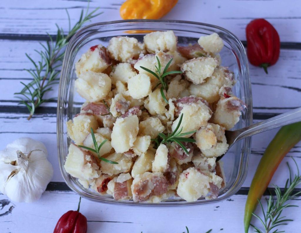 Potatoes with chili