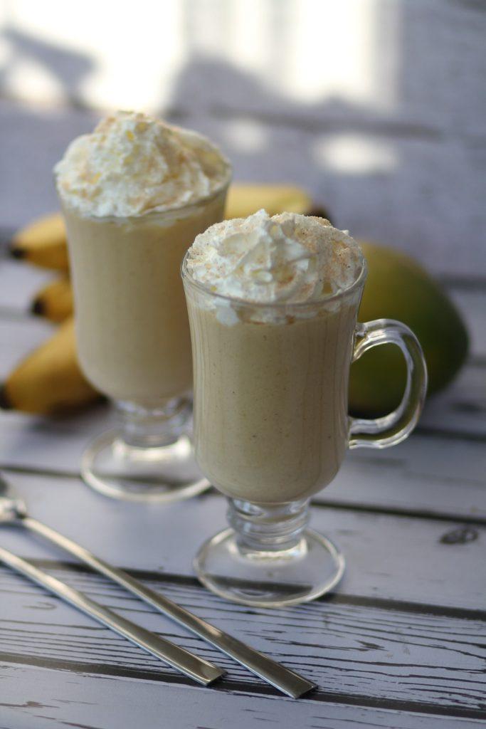 Banana and mango milkshake