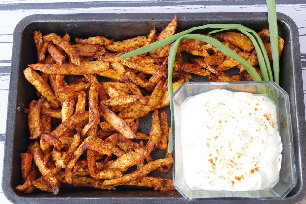 Baked celeriac fries