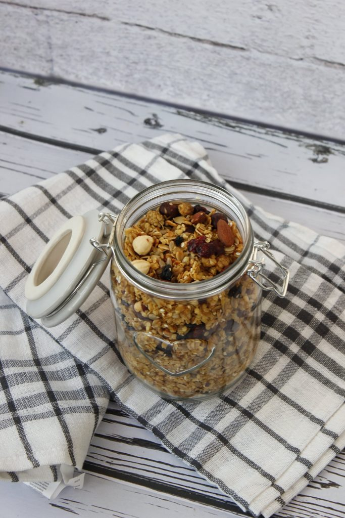 Homemade granola with nuts and fruits