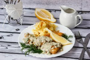 Cod in creamy sauce