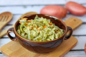 Creamy cooked cabbage
