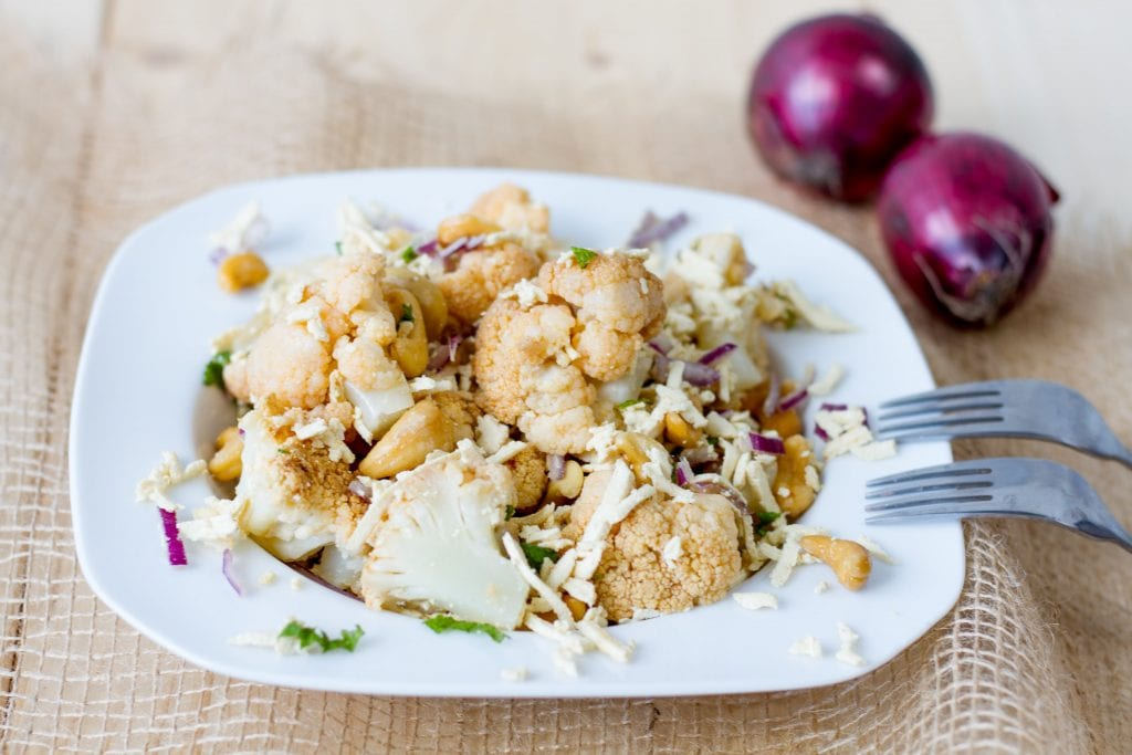 cauliflower vegan salad