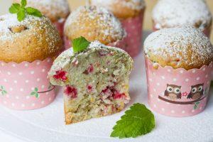 muffiny z owocami na kefirze