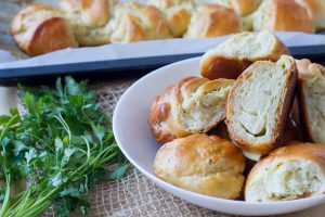 Creme cheese and garlic buns