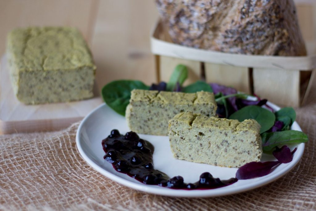 Butter bean and cashew pate with cornflakes