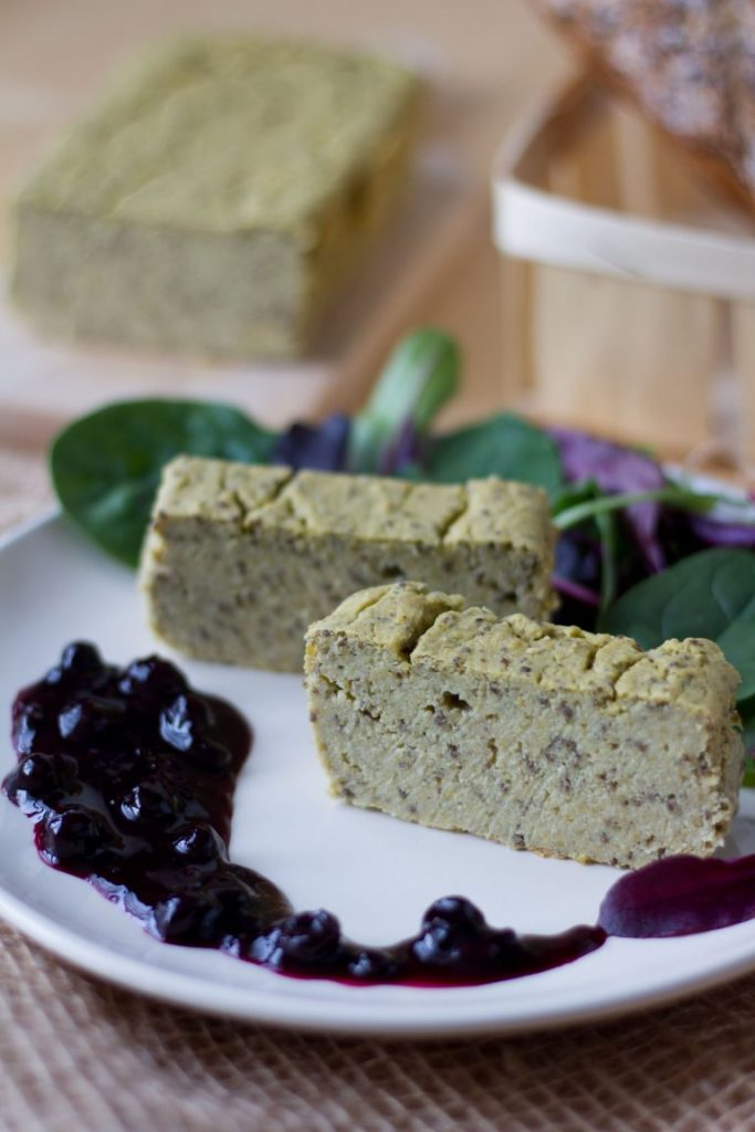 Butter bean and cashew pate with chia seeds