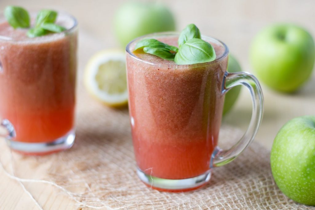 Strawberry and cucumber cocktail