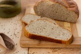 Wheat and rye bread with pickle juice