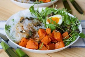 Sweet potato salad with noodles