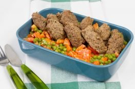 Liver and mince meat dumplings
