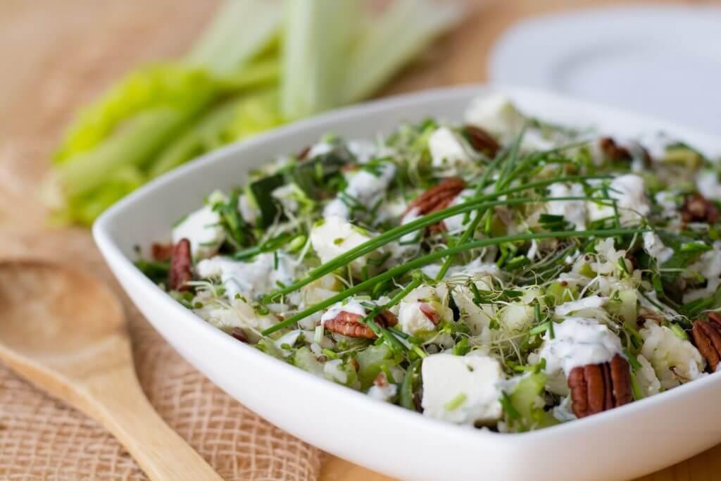 Zucchini and rice salad