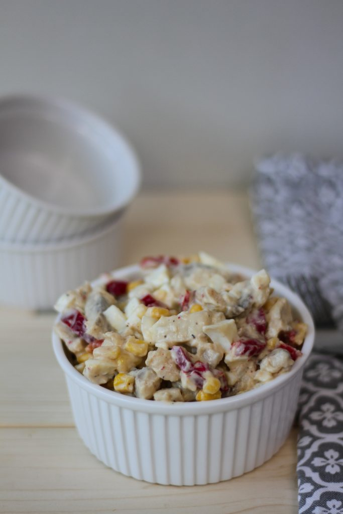 Herring salad with sweetcorn