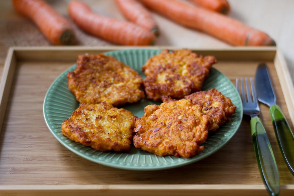 Chicken and carrot fritters