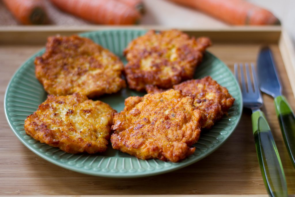 Chicken fritters with carrot